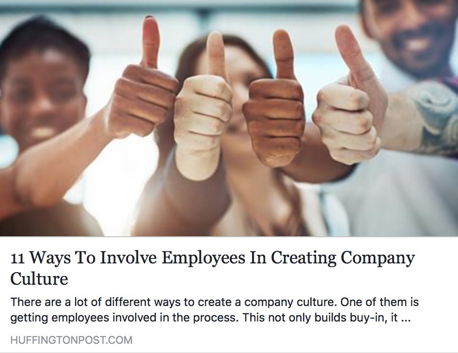 11 Ways To Involve Employees In Creating Company Culture