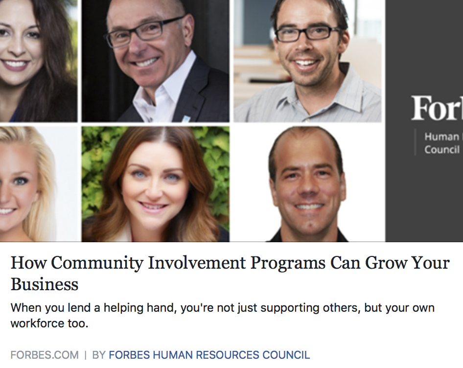 Community Involvement Programs Can Grow Your Business